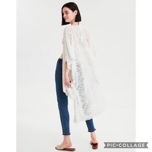 American Eagle Mesh Knit Midi Kimono